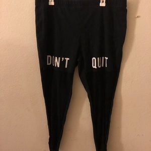 'Don't Quit' Tights in Black.